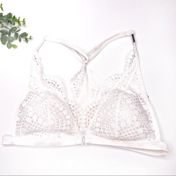 Victoria/'s Secret Size Small 8 White Bra Linen S Bralette Dream Angels